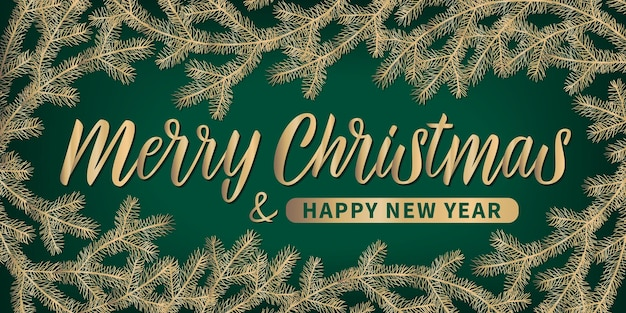 Merry christmas and happy new year lettering. vector typography design, celebration quotation for banner, backdrops, posters, greeting cards. hand drawn vector calligraphy.