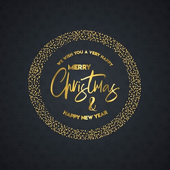 Merry christmas and happy new year lettering