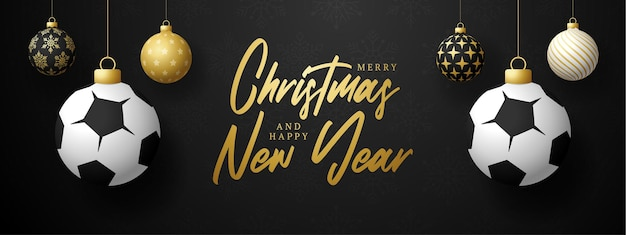Merry christmas and happy new year luxury sports greeting card