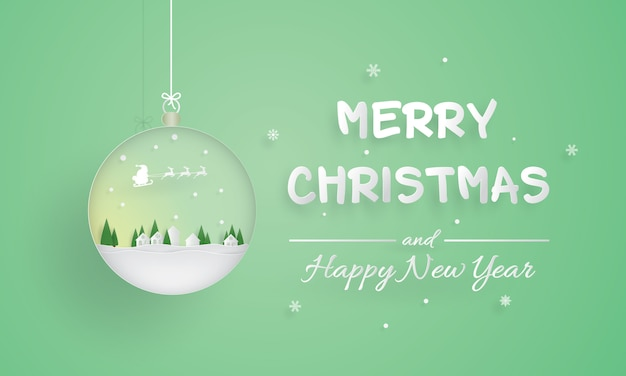 Merry christmas and happy new year, ornament