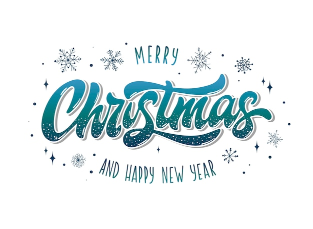 Merry christmas and happy new year poster, banner