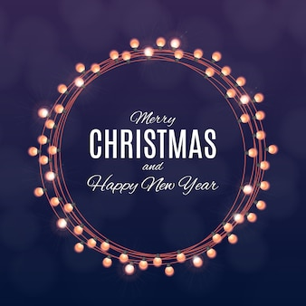 Merry christmas and happy new year posters