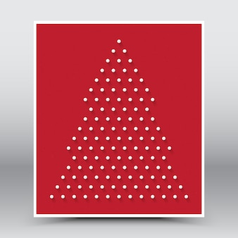 Merry christmas happy new year red