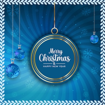 Merry christmas and happy new year sale background template or square flyer
