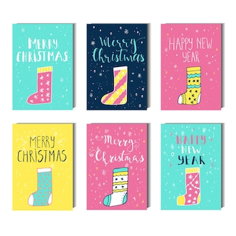 Merry christmas, happy new year  text label on a winter background with snow and snowflakes. greeting card template, poster with quote. t-shirt design, card design or home decor element. vector.