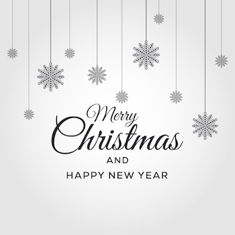 Merry christmas and happy new year vector background xmas design