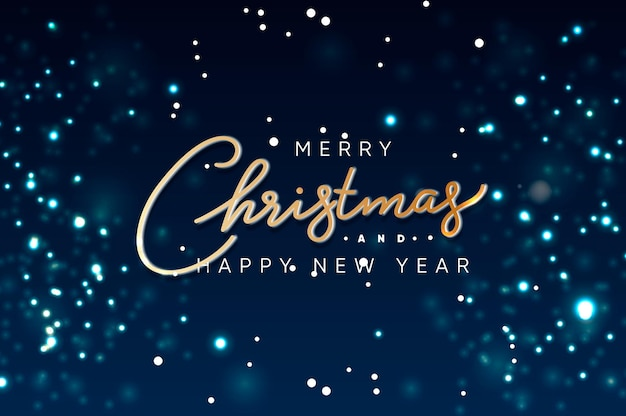 Merry christmas and happy new year web banner blurred background vector illustration