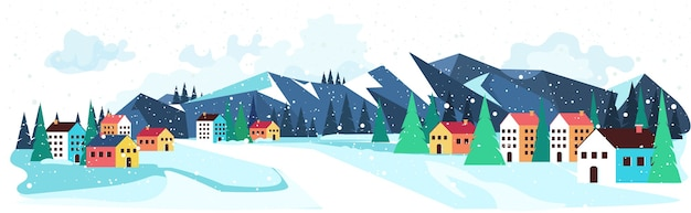메리 크리스마스 해피 뉴가 어 겨울 휴가 축 하 개념 인사말 풍경 배경 가로