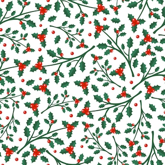 Merry christmas and happy new year winter seamless pattern with holidays objects.   illustration
