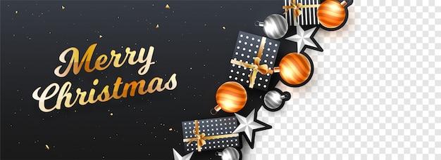 Merry christmas header or banner design.