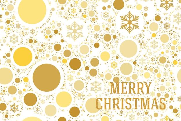 메리 크리스마스! 흰색 배경에 분리된 눈송이와 글꼴 글자와 매끄러운 패턴이 있는 크리스마스 카드. 평면 벡터 일러스트 레이 션 eps10입니다.