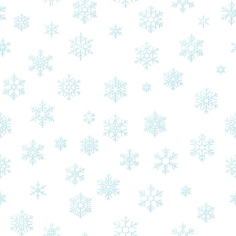 Merry christmas holiday decoration effect background. blue snowflake seamless pattern .