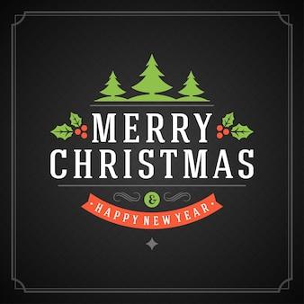 Merry christmas holidays greeting card