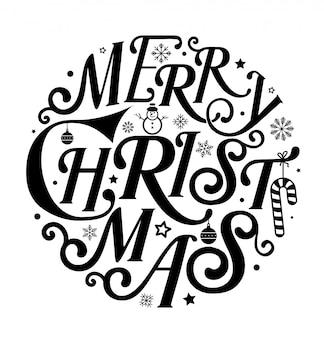서클 아트의 메리 크리스마스
