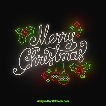 Merry christmas in neon