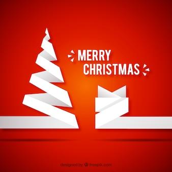 Веселого рождества в стиле бумаги