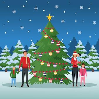 Веселое рождество зимой