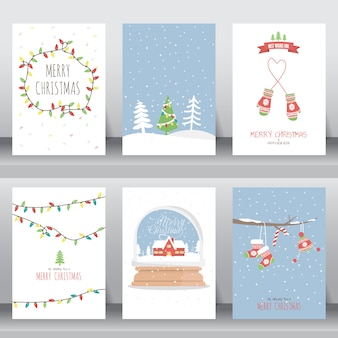 Merry christmas invitation and greeting card