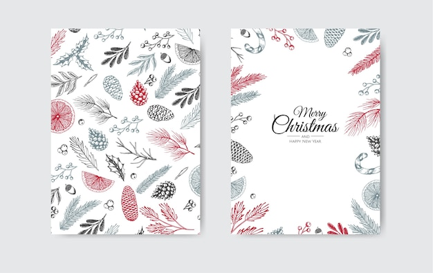 Merry christmas invitation