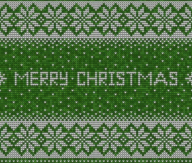 Веселого рождества вязание бесшовный фон фон