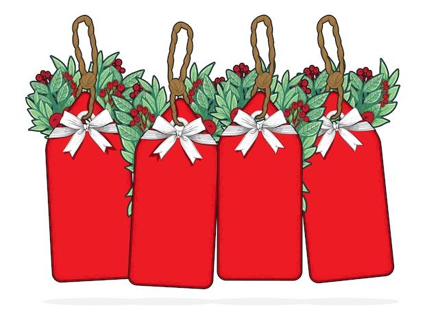 Шаблон этикетки с рождеством