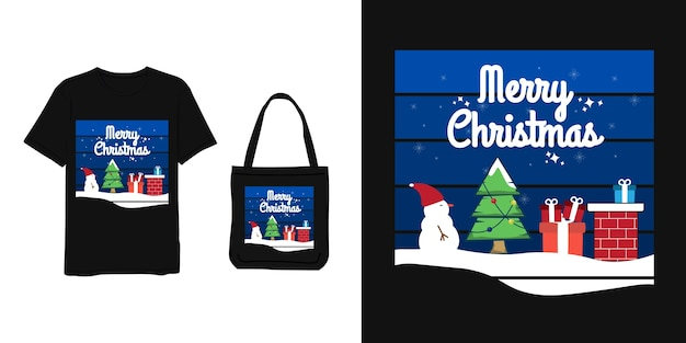 Merry christmas,lettering blue modern simple style