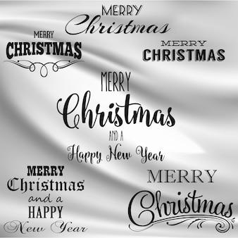 メリークリスマスレタリングデザイン。