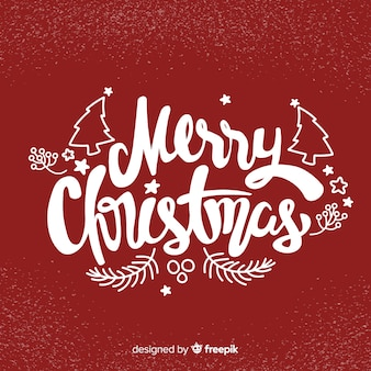 Merry christmas lettering happy holiday