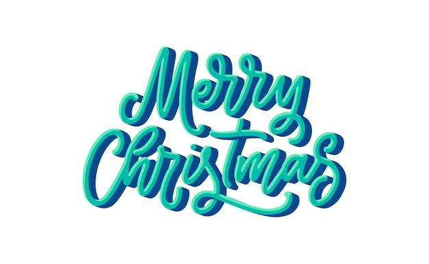 손으로 그린 메리 크리스마스 글자