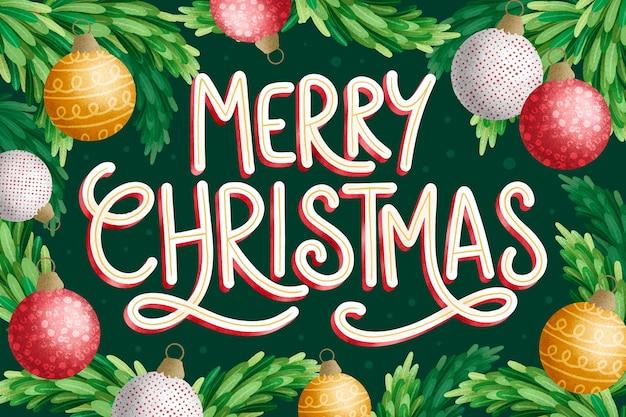 祭りの背景にメリークリスマスのレタリング
