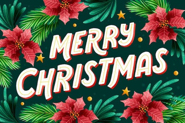축제 배경에 메리 크리스마스 글자