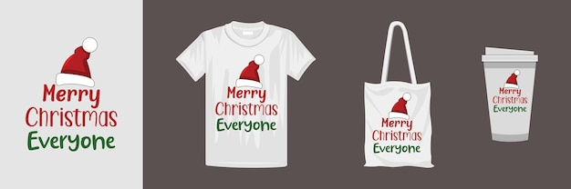 メリークリスマスのレタリング引用tシャツのデザイン。 tシャツ、マグカップ、ギフト、その他の印刷に適しています。