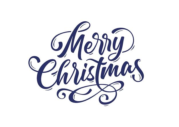 Счастливого рождества. текст надписи для счастливого рождества. открытка, плакат