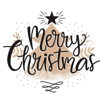 Merry christmas lettering theme