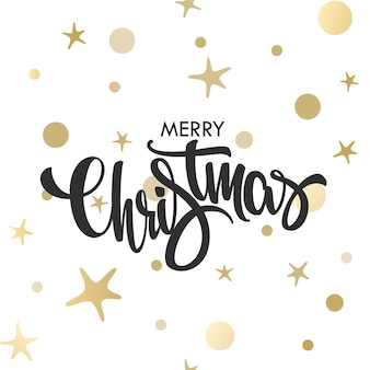황금 모양으로 메리 크리스마스 글자