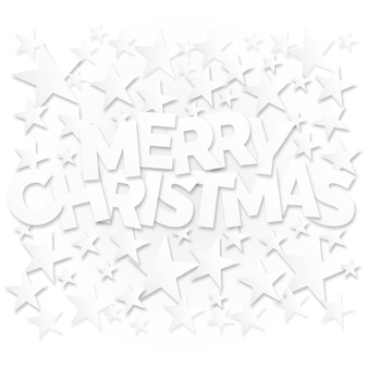 Merry christmas lettering with stars