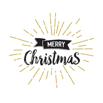 Merry christmas lettering with sunlight