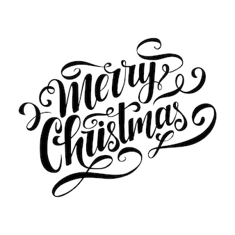Merry christmas lettering.