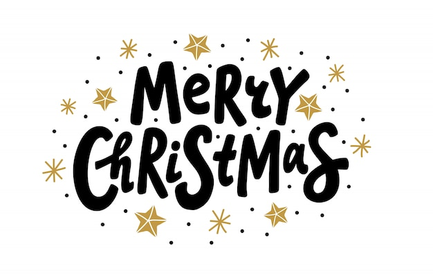 Merry christmas. lettering