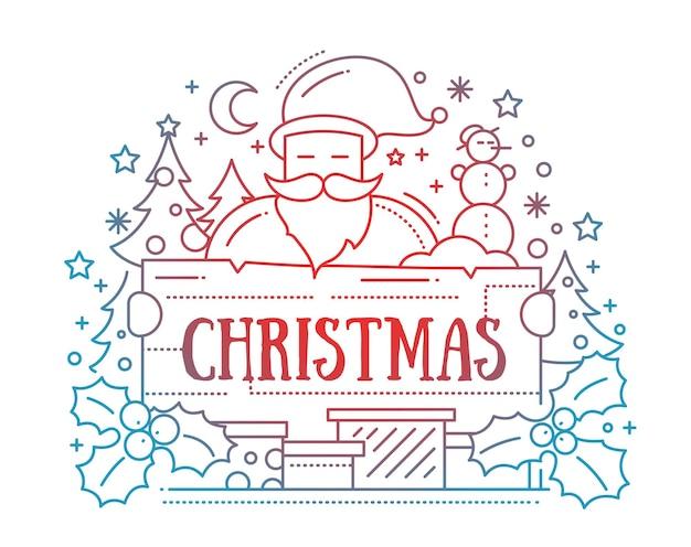 메리 크리스마스-라인 카드