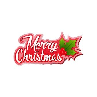 Merry christmas logo natal