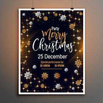 Merry christmas lovely flyer poster design template