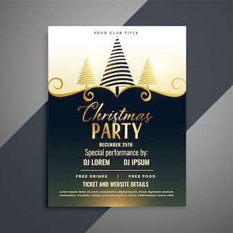 Merry christmas lovely flyer template design