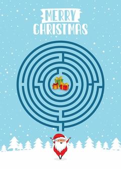 Веселого рождества лабиринт игры круг лабиринт викторина