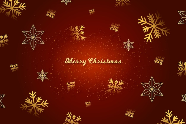 Merry christmas message on red background