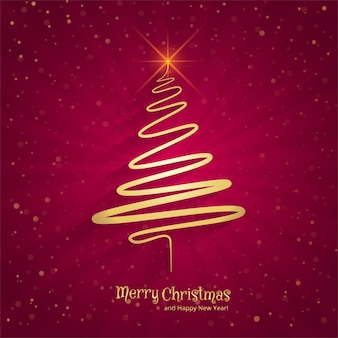 merry christmas minimal line tree background new