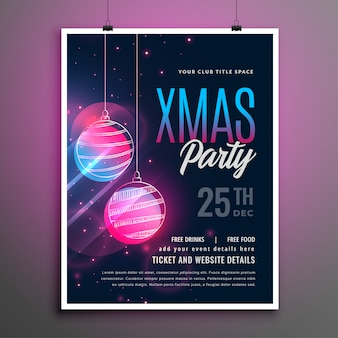 Merry christmas music party flyer template