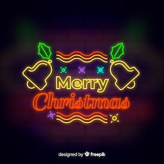 Веселого рождественского неонового фона