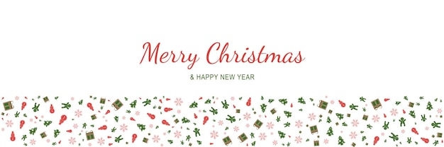 Merry christmas and new year 2022 poster xmas minimal banner with holiday symbols pattern