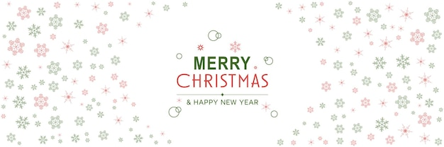 Merry christmas and new year 2022 poster xmas minimal banner with snowflakes pattern frame